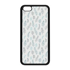 Whimsical Feather Pattern Dusk Blue Apple iPhone 5C Seamless Case (Black)