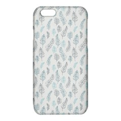 Whimsical Feather Pattern Dusk Blue iPhone 6/6S TPU Case