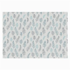 Turquoise Damask Pattern Large Glasses Cloth (2-Side)