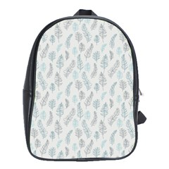 Turquoise Damask Pattern School Bags (XL)