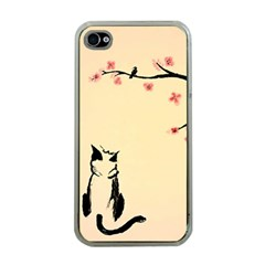 Luck And Patience Cat  Apple iPhone 4 Case (Clear)