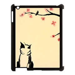 Luck And Patience Cat  Apple iPad 3/4 Case (Black)