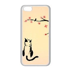 Luck And Patience Cat  Apple iPhone 5C Seamless Case (White)