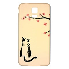 Luck And Patience Cat  Samsung Galaxy S5 Back Case (white)