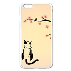 Luck And Patience Cat  Apple Iphone 6 Plus/6s Plus Enamel White Case