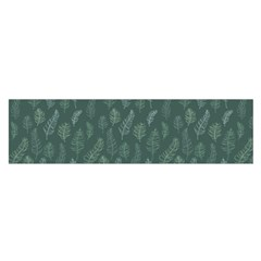Whimsical Feather Pattern, Forest Green Satin Scarf (Oblong)