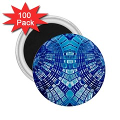 Blue Mirror Abstract Geometric 2.25  Magnets (100 pack)