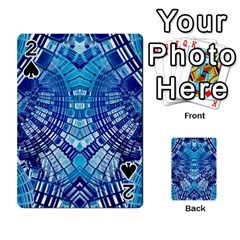 Blue Mirror Abstract Geometric Playing Cards 54 Designs