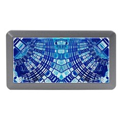 Blue Mirror Abstract Geometric Memory Card Reader (Mini)