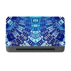 Blue Mirror Abstract Geometric Memory Card Reader with CF