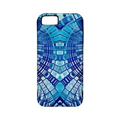 Blue Mirror Abstract Geometric Apple iPhone 5 Classic Hardshell Case (PC+Silicone)