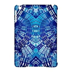 Blue Mirror Abstract Geometric Apple iPad Mini Hardshell Case (Compatible with Smart Cover)