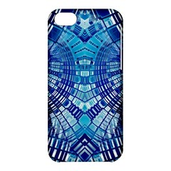 Blue Mirror Abstract Geometric Apple iPhone 5C Hardshell Case