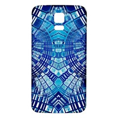 Blue Mirror Abstract Geometric Samsung Galaxy S5 Back Case (White)