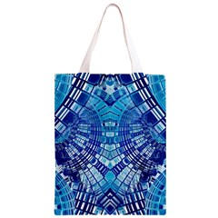 Blue Mirror Abstract Geometric Classic Light Tote Bag