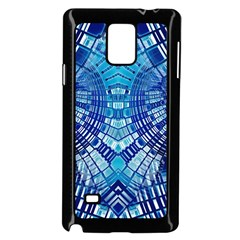 Blue Mirror Abstract Geometric Samsung Galaxy Note 4 Case (Black)