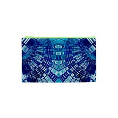 Blue Mirror Abstract Geometric Cosmetic Bag (xs)