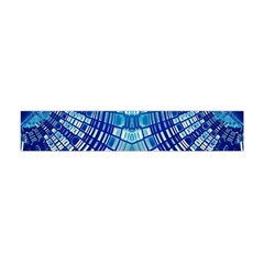 Blue Mirror Abstract Geometric Flano Scarf (Mini)