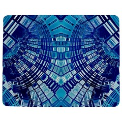 Blue Mirror Abstract Geometric Jigsaw Puzzle Photo Stand (Rectangular)