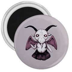 Plushie Baphomet 3  Magnets