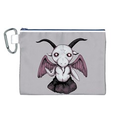 Plushie Baphomet Canvas Cosmetic Bag (L)