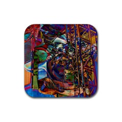 Las Vegas Nevada Ghosts Rubber Square Coaster (4 pack)
