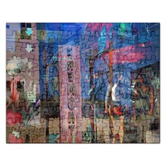 Las Vegas Strip Walking Tour Rectangular Jigsaw Puzzl