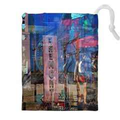 Las Vegas Strip Walking Tour Drawstring Pouches (XXL)