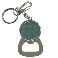Whimsical Feather Pattern, Forest Green Bottle Opener Key Chain
