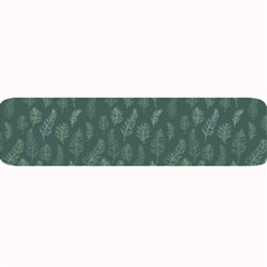 Whimsical Feather Pattern, Forest Green Large Bar Mat