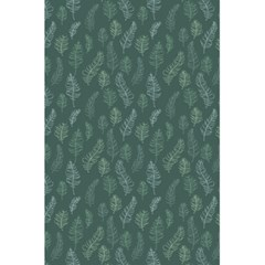 Whimsical Feather Pattern, Forest Green 5.5  x 8.5  Notebook