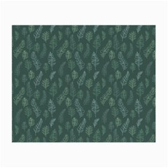 Whimsical Feather Pattern, Forest Green Small Glasses Cloth (2 Sides)