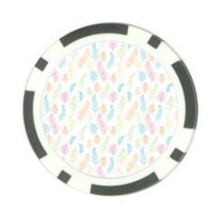 Whimsical Feather Pattern,Fresh Colors, Poker Chip Card Guard (10 pack)