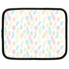 Whimsical Feather Pattern,Fresh Colors, Netbook Case (XXL)