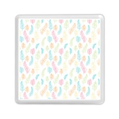 Whimsical Feather Pattern,Fresh Colors, Memory Card Reader (Square)