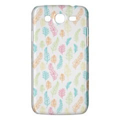 Whimsical Feather Pattern,Fresh Colors, Samsung Galaxy Mega 5.8 I9152 Hardshell Case