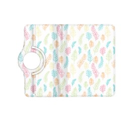 Whimsical Feather Pattern,Fresh Colors, Kindle Fire HD (2013) Flip 360 Case