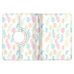 Whimsical Feather Pattern,Fresh Colors, Kindle Fire HDX Flip 360 Case