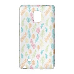Whimsical Feather Pattern,Fresh Colors, Samsung Galaxy Note Edge Hardshell Case