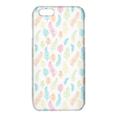 Whimsical Feather Pattern,Fresh Colors, iPhone 6/6S TPU Case