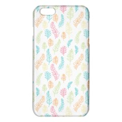 Whimsical Feather Pattern,Fresh Colors, iPhone 6 Plus/6S Plus TPU Case