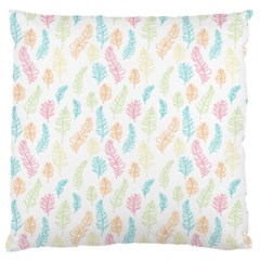 Whimsical Feather Pattern,Fresh Colors, Standard Flano Cushion Case (One Side)