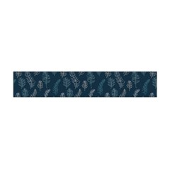 Whimsical Feather Pattern, Midnight Blue, Flano Scarf (mini)