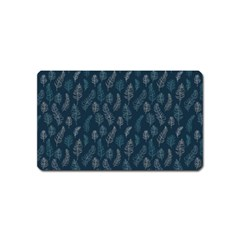 Whimsical Feather Pattern, Midnight Blue, Magnet (name Card)
