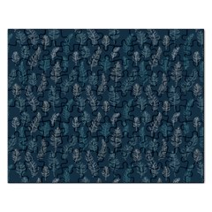 Whimsical Feather Pattern, Midnight Blue, Jigsaw Puzzle (Rectangular)