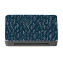Whimsical Feather Pattern, Midnight Blue, Memory Card Reader with CF