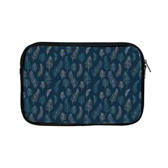 Whimsical Feather Pattern, Midnight Blue, Apple Ipad Mini Zipper Case
