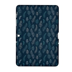 Whimsical Feather Pattern, Midnight Blue, Samsung Galaxy Tab 2 (10.1 ) P5100 Hardshell Case