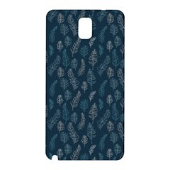 Whimsical Feather Pattern, Midnight Blue, Samsung Galaxy Note 3 N9005 Hardshell Back Case