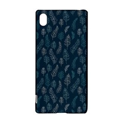 Whimsical Feather Pattern, Midnight Blue, Sony Xperia Z3+ Hardshell Case